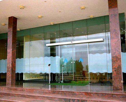 درب شیشه ای فریم لس 2